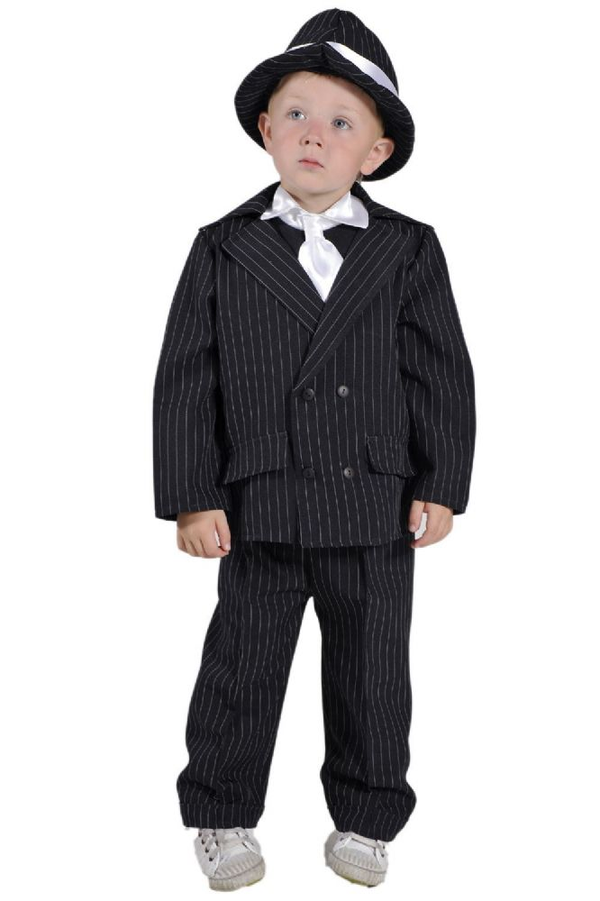 Children S Kids Boys Gangster Bugsy Malone Fancy Dress Up